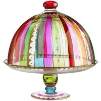Festive Stripes Cake Stand & Dome