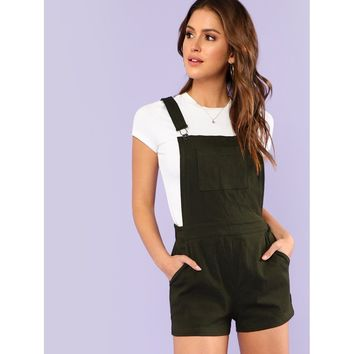 Pocket Front Overall Pants