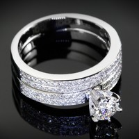 Double Pave Diamond Engagement Ring | 5501