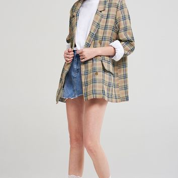 Ashlynn Check Linen Jacket Discover the latest fashion trends online at storets.com