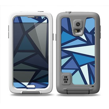 The Large Vector Shards of Blue Skin Samsung Galaxy S5 frē LifeProof Case