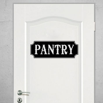 Pantry Vinyl Wall Words Decal Sticker Graphic