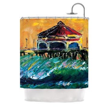 "Josh Serafin ""Offshore Beauty"" Multicolor Coastal Shower Curtain"
