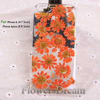 Pressed Flower iphone 6 case, iphone 6 plus, iPhone 5 case, iphone 5s case, iPhone 5c case, iPhone 4s case, Real Flowers-095