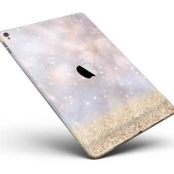 "Unfocused Glowing Lights with Gold Full Body Skin for the iPad Pro (12.9"" or 9.7"" available)"