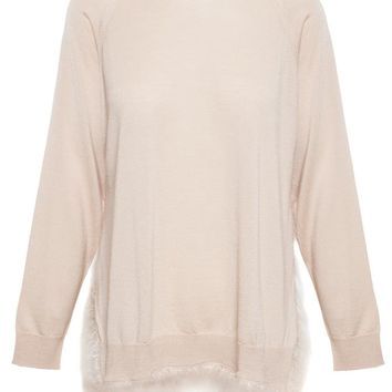 Silk-Cashmere Knit with Feather Embellishment - SIMONE ROCHA