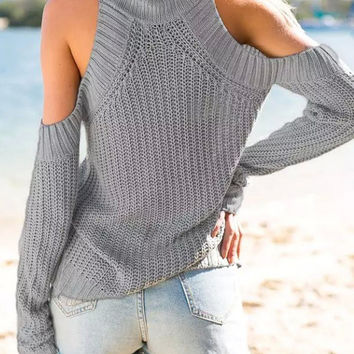 Gray  Long Sleeve Sweater