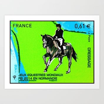 2014 FEI World Equestrian Games in Normandy DRESSAGE Art Print by lanjee
