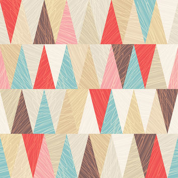Modern Triangles Removable Wallpaper