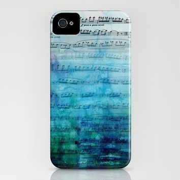 Blue mood music iPhone Case by Catherine Holcombe | Society6