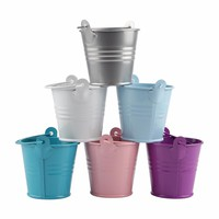12pcs Wedding Favors and Gifts Candy Box Metal Mini Tin Bucket Gift bags with Handles Wedding Decoration Event Party Supplies