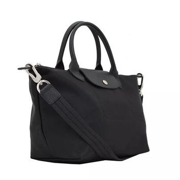 ONETOW Longchamp Neo Le Pliage Black Medium Tote Bag Handbag