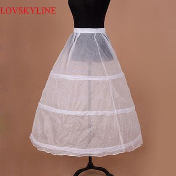 In Stock 3 Hoops Petticoats for wedding dress Wedding Accessories Free Shipping Crinoline Cheap Underskirt For Ball Gown 2017