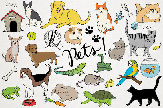 Pets Clipart - Animals clip art, Cats and from LemonadePixel on