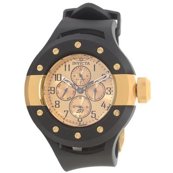 Invicta 17391 Men's S1 Rally Quartz Gold Dial Black Rubber Strap Watch