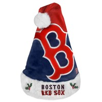Forever Collectibles Boston Red Sox Colorblock Santa Hat - Adult