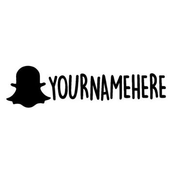 SnapChat @ Your Name Decal - Advertise - Monogram - Get Followers Snap Chat - Follow Me - Sticker - Get Followers - Truck Decal
