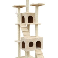 72-Inch Cat Tree Pet Play Tower Condo by Outdoor Sunshine