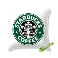 Starbucks Coffee Logo Square Pillow Cover