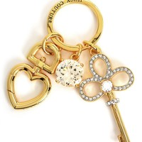 Gold Key And Stone Keyfob by Juicy Couture, O/S