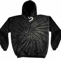 Dark Night Twist Tie Dye Hoodie