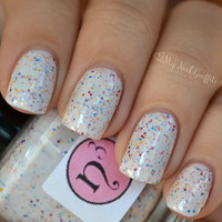 Snow Confetti Nail Polish Pink Red Blue Glitter