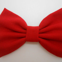 Linen Hair Bow, Girls Hairbow, Fabric Hair Bow, Retro hair Bow, Ivory, Black, Burgundy, Red Hairbow