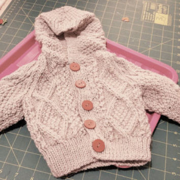 Hoodie Baby Cardigan - Handmade Baby Knit - New Born Baby - Knitted Bay Jacket - Hoodie Jumper - Made in Australia