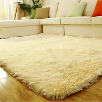 Hot Fluffy Rug Anti-Skid Shaggy Footcloth Area Dining Room Home Carpet Floor Mat Alternative Measures