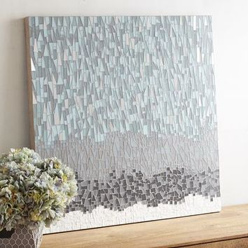 Mosaic Striations Abstract Wall Art