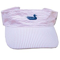 Limited Edition Pink Seersucker Visor with Navy Duck by Southern Marsh