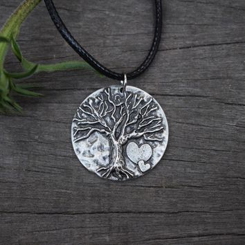 12PCS Tree of Life pendant necklace jewelry with love new Round Vikings Runes Amulet Pendant Necklace Nordic Heart-shaped SanLan