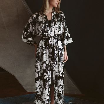 Long Classic Silk Robe