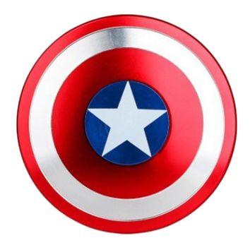 Captain America Shield Finger Spinner Hand Metal EDC For Autism And ADHD Spinner Fidget Anti Stress Toys For Adults