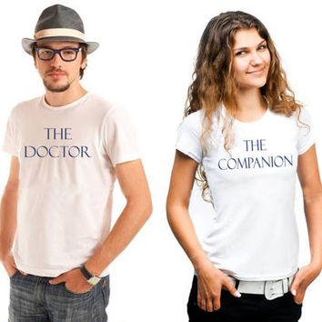 DOCTOR WHO inspired, his and hers, tshirt set, t-shirt, geeky, couples tshirts
