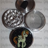 My Little Marijuana Leaf Pony 4 Piece CNC Aluminum Pollen Herb Grinder Grinders from Grindilicious