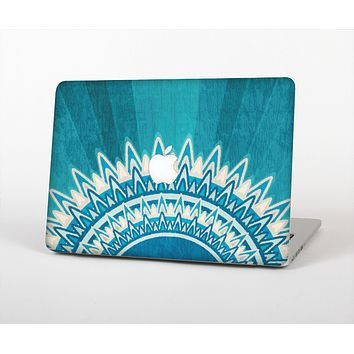 The Blue Spiked Orb Pattern V3 Skin for the Apple MacBook Air 13""