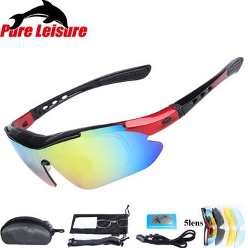 PureLeisure 1 Set 5 Lens Fly Fishing Polar Glasses Clip On Sunglasses Polaryte HD Polarisantes Peche Sun Covers Sunglass Clip