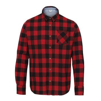 Like Totally Red & Black Check Shirt