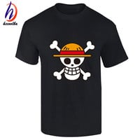 One Piece T shirt 2017 Fashion Japanese Anime Clothing Back Color Luffy Cotton T-shirt For