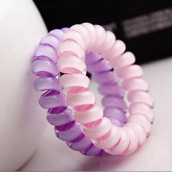 Factory Price Cheap Candy Color Headdress Hair Band / Hair Accessories Telephone Line Good Elastic Hair Rope for Women