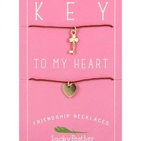 Lucky Feather Key & Heart