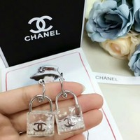Chanel new type lock Earrings dangle fashion  Logo 2018