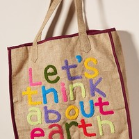 Let's Think About Earth Tote Bag