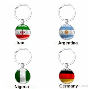 2018 FIFA World Cup Key Chain National Flag Football Keychain Soccer Club Fans Keyring Country Key Chains Souvenir Pendant Gifts 8 Color Ho