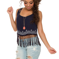 Beautiful Life Fringe Crop Top