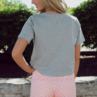 On Point Polka Dot Shorts - Blush