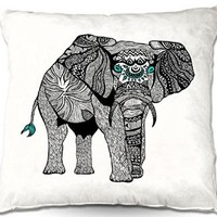 Decorative Outdoor Patio Couch Throw Pillows from DiaNoche Designs BBQ Garden Outdoor Ideas by Pom Graphic Design Unique - One Tribal Elephant