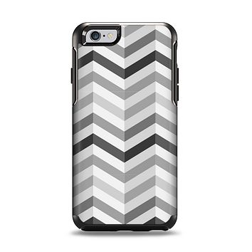The Grayscale Gradient Chevron Zigzag Pattern Apple iPhone 6 Otterbox Symmetry Case Skin Set
