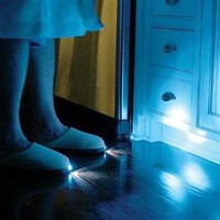 Bright Feet Lighted Slippers- Adult- Blue (MEDIUM)